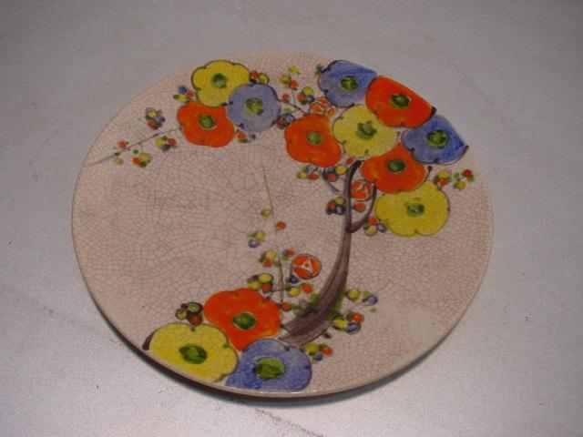 C420 einer von 2 chinesischen keramik tellern blumenmotiv for Dekoration 70iger jahre